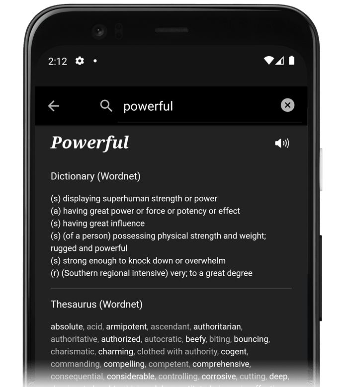 How JotterPad's research function looks like on the Android app